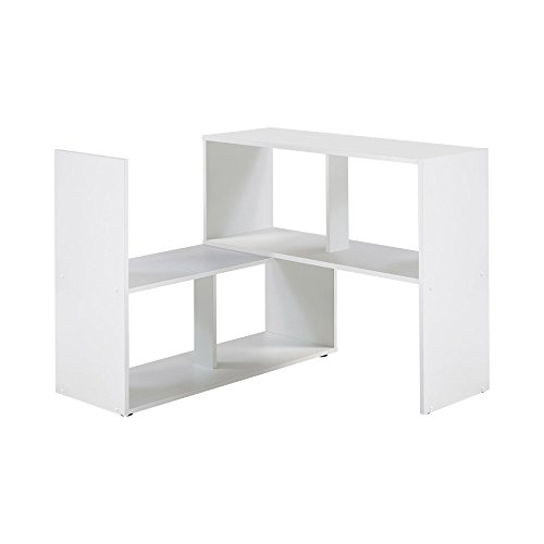 Unbekannt FMD Möbel 264-100 Stretch 100 Regal, Holz, weiß, 94.7 x 33 x 74.2 cm
