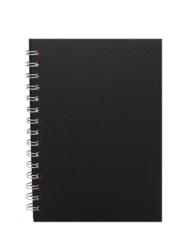 Pink Pig Skizzenbuch, umweltfreundlich, A5, Hochformat, Papierfarbe Weiß, Einbandfarbe Schwarz