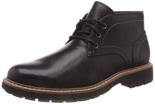 Clarks Herren Batcombe Lo Chelsea Boots, Schwarz (Black Leather), 47 EU (Clark Von Schuhe)