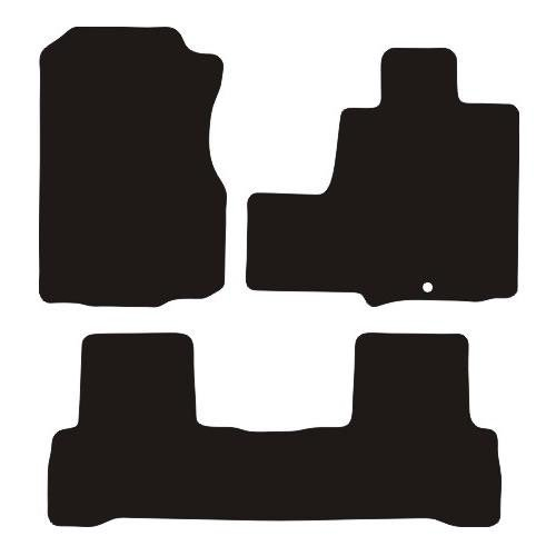 Premier Products (Notts) S-9940-2EYE Tailored Premium Rubber Car Mats, Black Trim