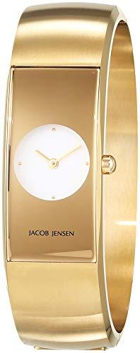 JACOB JENSEN Reloj Analógico para Mujer de Cuarzo con Correa en Acero Inoxidable JJ482