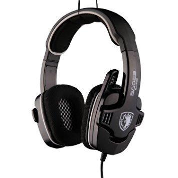 [Aktualisierte Version von Sades 901] Dland Sades SA-922 3 in 1 schwarz Mehrere Schnittstellenunterstützung 7.1 Simulierte Soundkanäle mit unabhängigen Spiel Chat Lautstärkeregler USB und 3,5 / 2,5-mm-Anschluss Universal-Versatile Berufsspiel-Kopfhörer für PC / Sony PlayStataion 3, PS3 / Xbox 360 Triple-Headsets mit Kleinpaket