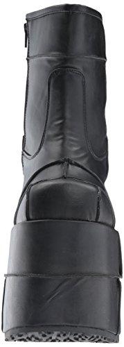 Demonia Stack-201, Stivali Uomo Black (Blk Vegan Leather)