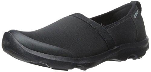 Crocs - Duetbsdy2.0sty-line, Mocassini Donna Nero (Black/Black)