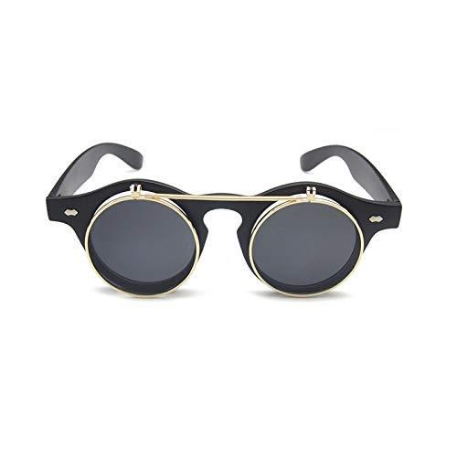 Wghz Flip Up Round Shade Sonnenbrillen Retro Vintage Männer Frauen Sonnenbrillen Classic Eyeglasses UV400 SD74