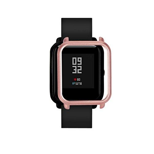 Logobeing Funda Completa para Huami Amazfit Bip Youth Watch Protección Suave de TPU de Silicona Smartwatch Protector (R)