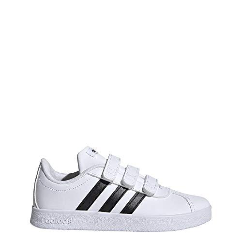Adidas VL Court 2.0 CMF I, Zapatillas de Gimnasia Unisex bebé, Blanco Core Black/FTWR White, 27 EU