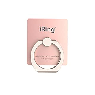 iRing Premium, 3 in 1 Hand Grip Ring and Mount for Mobile Phones - Designed by Aauxx  Champagne Gold