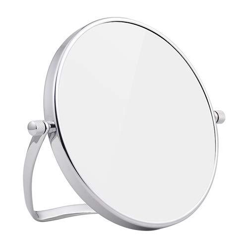 NL Maquillaje Espejo Portable, de Doble Cara del Espejo cosmético - Espejo de baño de Aumento 3X 360...