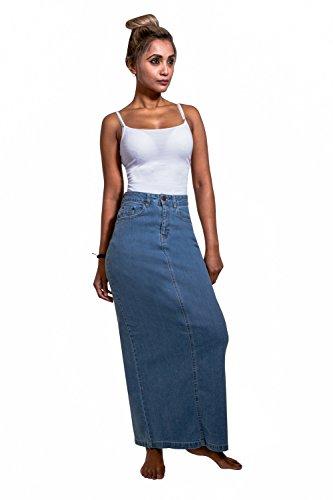 USKEES JESSICA Langer Jeansrock - Pale Wash Jeansrock eng anliegend JESSICAPW, Blau, Gr. 36 (Rock Langer Jeans)