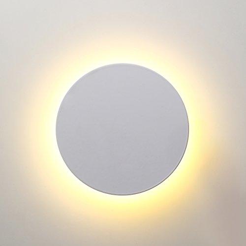 Topmo-plus 8W LED lámpara de pared Aplique Pared Interior 3 colores dimmable...