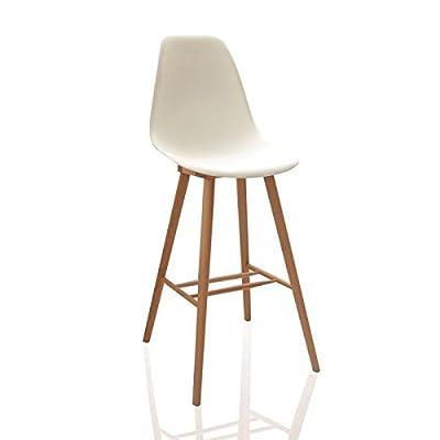 James Nordic Design Bar Stool White