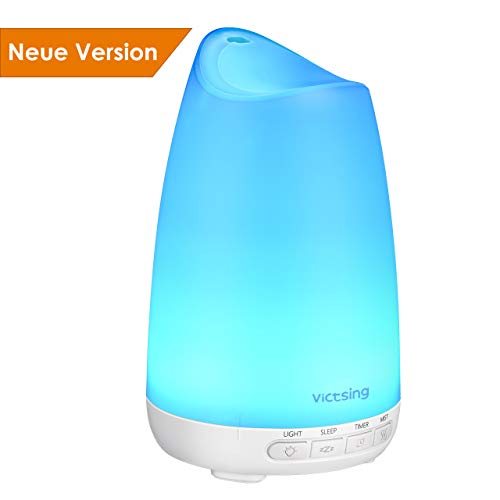 Diffusor Aromatherapie, VicTsing Aroma Diffuser 150ml Luftbefeuchter Ultraschall Vernebler, Ultra Leise Diffuser BPA-Free Öle Diffusor mit 8 Farben LED Humidifier Duftlampe für