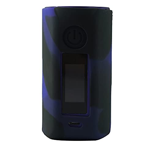 Protective Silicone Case Cover Wrap Skin for Asmodus minikin 2 180w Box Mod Kit (Purple/Black)