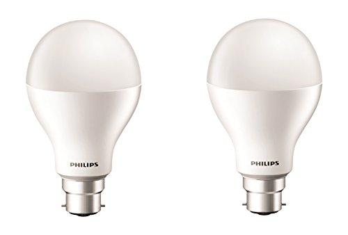 Philips Base B22 17-Watt LED bulb (Cool Day Light,Pack of 2)