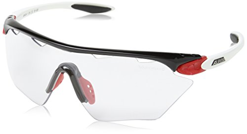 Alpina Unisex Sportbrille Twist Four Shield VL+, black/red/white, A8454135
