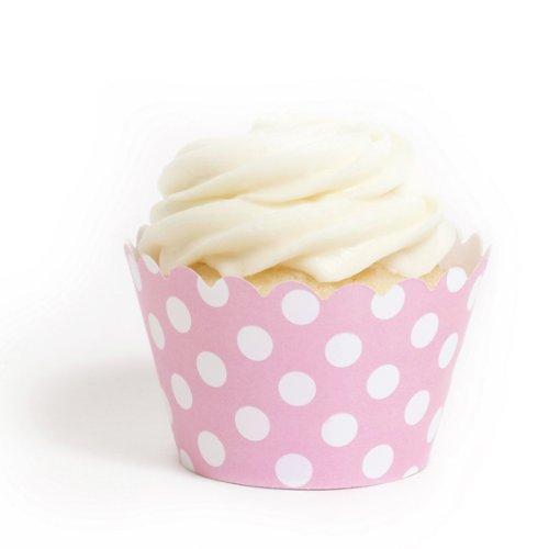 dress my Cupcake Pink Polka Dots Cupcake Wrappers, Set von 12-Polka Dot Cupcake Liners - Dots Cupcake Liner