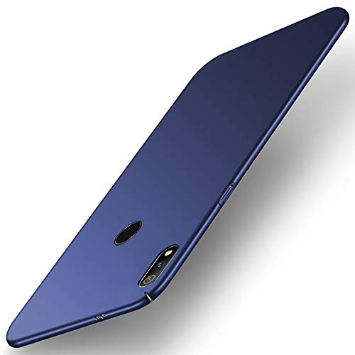TheGiftKart Ultra Slim 360* Matte Velvet Feel Hard Back Case Cover with Camera Protection Bump for Realme 3 Pro (Blue)