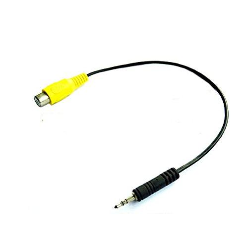 Preisvergleich Produktbild adaptare 90441 20 cm Video-Kabel für Rückfahr-Kamera Klinke 2,5 mm 3-polig Stecker auf Cinch-Buchse