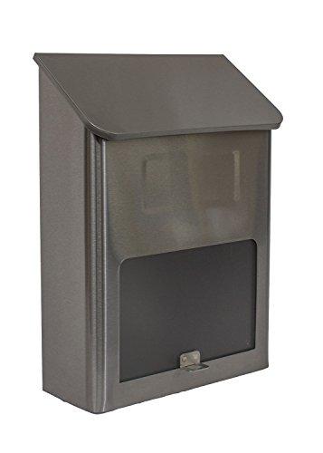 qualarc wf-l002U-Bahn rechteckig Edelstahl Wandhalterung Mailbox mit Fenster, silber/schwarz -