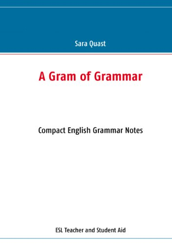 A Gram of Grammar: Compact English Grammar Notes (English Edition)