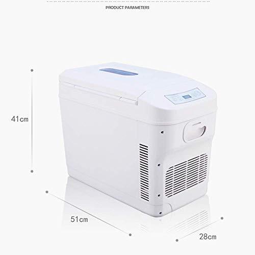 Auto Kühlschrank Mini Kühlschrank vertikal, große Kapazität 28L tragbare elektrische Kühlschrank Doppelkernkühlung/Heizung, geeignet für LKW und Boote/Picknicks (Silent Umweltschutz) -