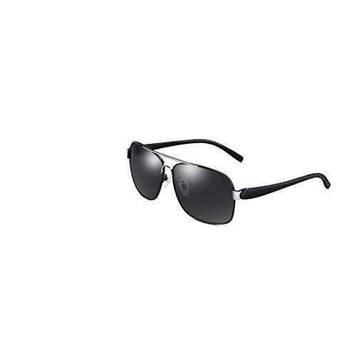 RJYJ Klassische Klassische Polarisierte Sonnenbrille, Herren-Sonnenbrille, PC-Linse, Polarisiert, Strahlungsfrei, UVA-beständig, UVB-beständig, UV-Schutz (Color : Black)