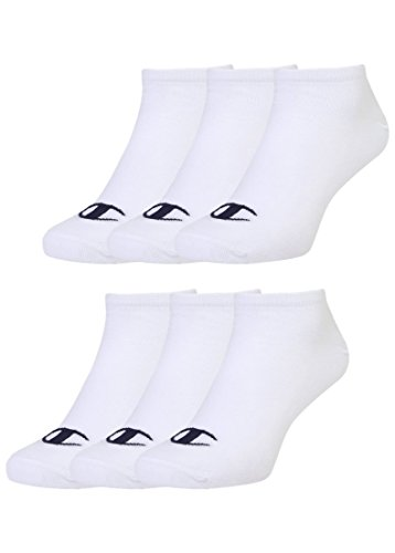 Champion 6pk Sneaker Socken Chaussettes Mixte, Weiß, 43-46 -