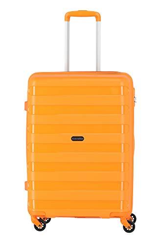 """Travelite Farbenfrohe, lässige Hartschalen-Trolleys der Serie \""""Nova\"""" machen jede Reise zum bunten Abenteuer Koffer, 66 cm, 67 Liter, Orange"""
