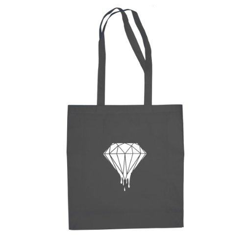 Dripping Diamond - Borsa / Sacchetto Di Stoffa Grigia