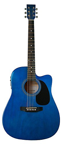 Leboncat 7A40 - Guitarra electro-acústica LFG-414CE, color azul