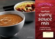 6 x Mayflower medium Chinese Curry Sauce Mix 255g 1