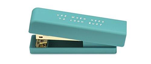 NPW NPW57300 Kleiner Hefter 24/6 Set, Beschäftigt aussehen Notes To Self, blau