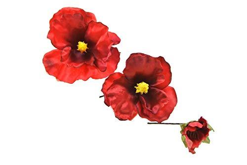 clarigo Haarnadeln Haarklammern Haarklemme Blüte Elfe rot Hochzeit Kommunion Blumen Blumenmädchen