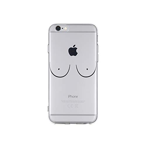 licaso Apple iPhone 6 Handyhülle Smartphone Apple Case aus TPU mit Brüste Print Motiv Slim Design Transparent Cover Schutz Hülle Protector Soft Aufdruck Lustig Funny Druck - Slim Brust