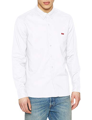 Levi's ls battery hm shirt camicia, bianco (white 0000), xx-large uomo
