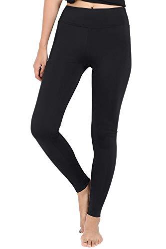 Wirezoll Damen Leggings Blinkdicht Yoga Leggings Fitnesshose, Schwarz, XS (DE Konfektionsgröße 32-34)