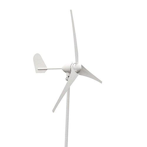 vogvigo 300W 3Klingen Mini Wind Turbine Generator Kit, Wind Power System für Aufladen der Akkus für Werkstatt/Garage/Küste/GebirgsKetten/Landwirtschaftliche Felder–12V