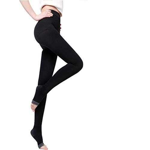 JHKJ Über Nacht Oberschenkel Hohe Abnehmen Kompression Toeless Socken Yoga/Sleep Legging,Black,1Pcs