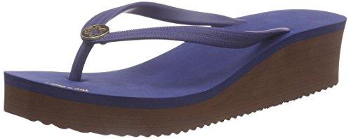flip*flop Goldflower High, Tongs femme Bleu - Blau (032)