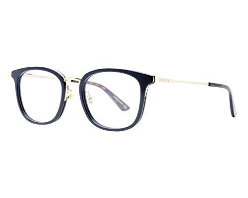 Gucci Brille (GG-0412-OK 001) Acetate Kunststoff - Metall schwarz - gold