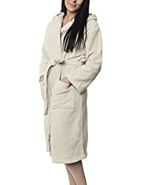 fdc54f75c7 Twinzen Women s Bathrobe (XS to XL) - Luxury 100% Cotton Bathrobes