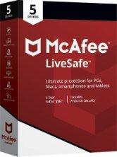 McAfee LiveSafe 2018 für eine unbegrenzte Anzahl an Geräten | 1 Jahr | PC/Mac/Smartphone/Tablet | Code in a Box
