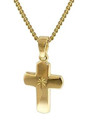 trendor Gold 333 Kreuz-Anhänger für Kinder 35750