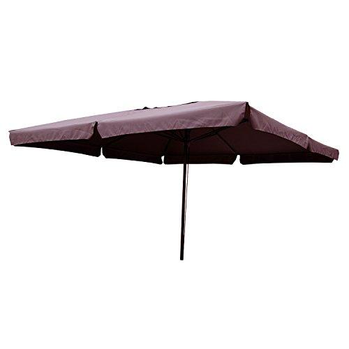 Concept-Usine 1494.0 Aragon Parasol Carré Chocolat 4 x 4 m