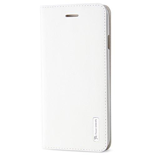 BELK iPhone 6 Hülle (11.94 cm) -Sleek Snag Premium ECHT Leder Flip Case Schutzhülle mit Ständer und Display-Schutzfolie), Schwarz Pink - 6s - White-6s
