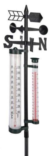 Wetterstation für Niederschlag und Windstärke -richtung Temperatur 145cm 60121