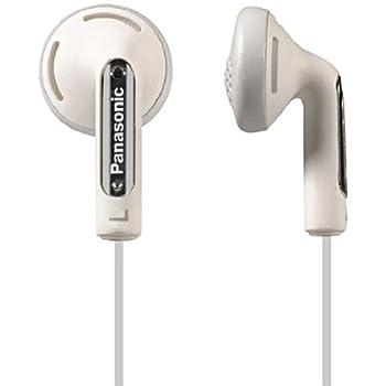 Panasonic RP HV 154 E-W In-Ear-Kopfhörer (1,2 m Kabellänge, 3,5 mm Vergoldeter Mini Stecker, XBS-Akustiksystem) weiß