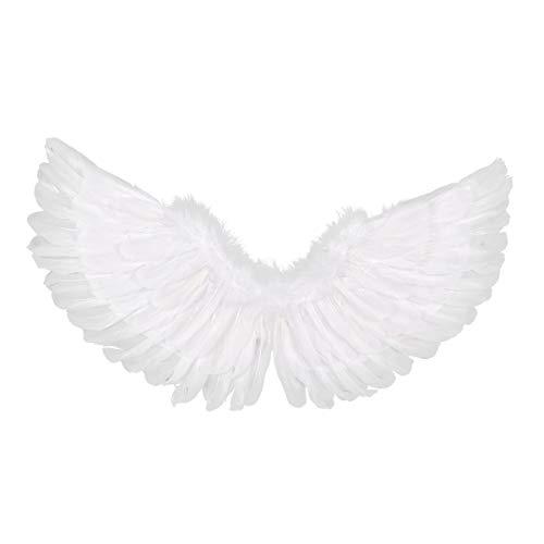 iixpin Engelsflügel Cosplay Kostüm Einfarbige Flügel für Kinder 60x33 cm/Erwachsene 80x40 cm Weiß Fasching Karneval Performance Verkleidung Weiß(Typ B) (Engel Flügel Kostüm Uk)
