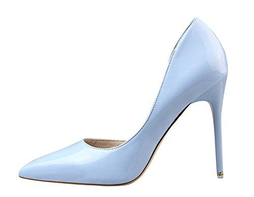 Wealsex stiletto high heels damen elegant pumps Hellblau